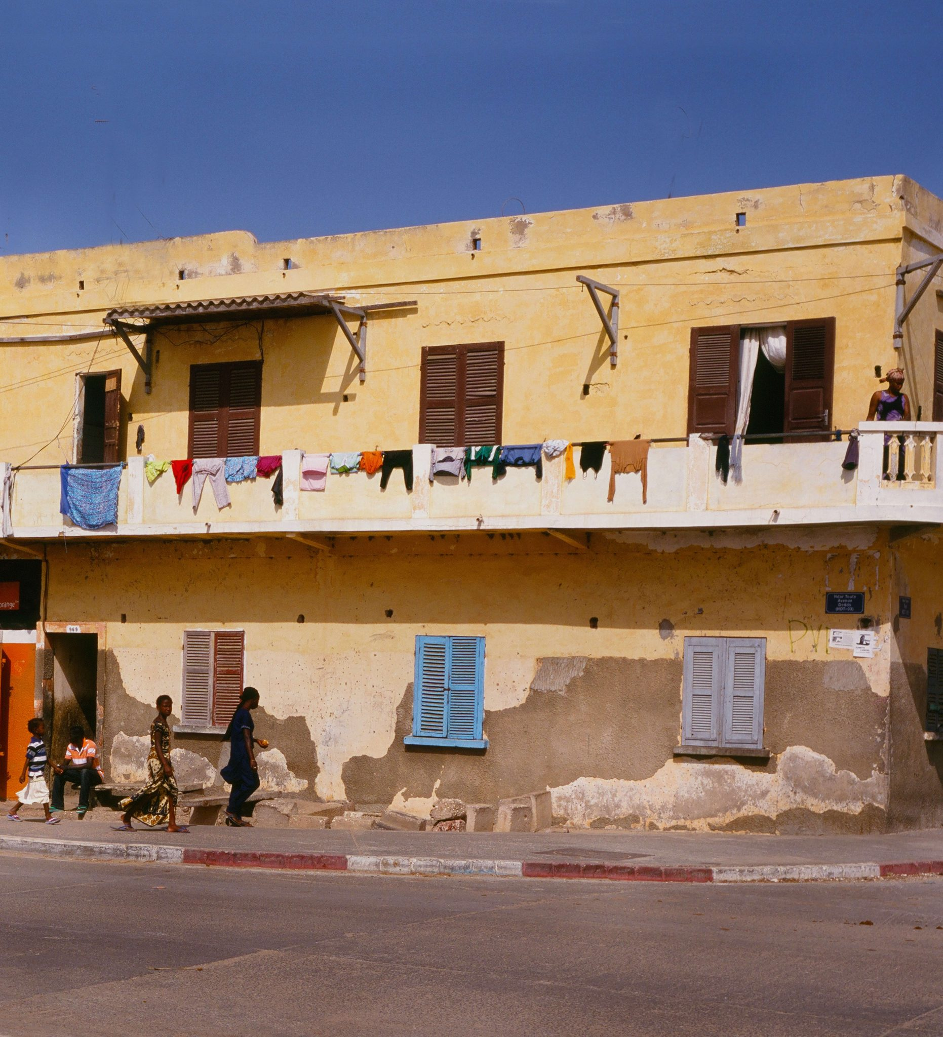 Clothes Hanging from a Balcony Close to the House of Ismael