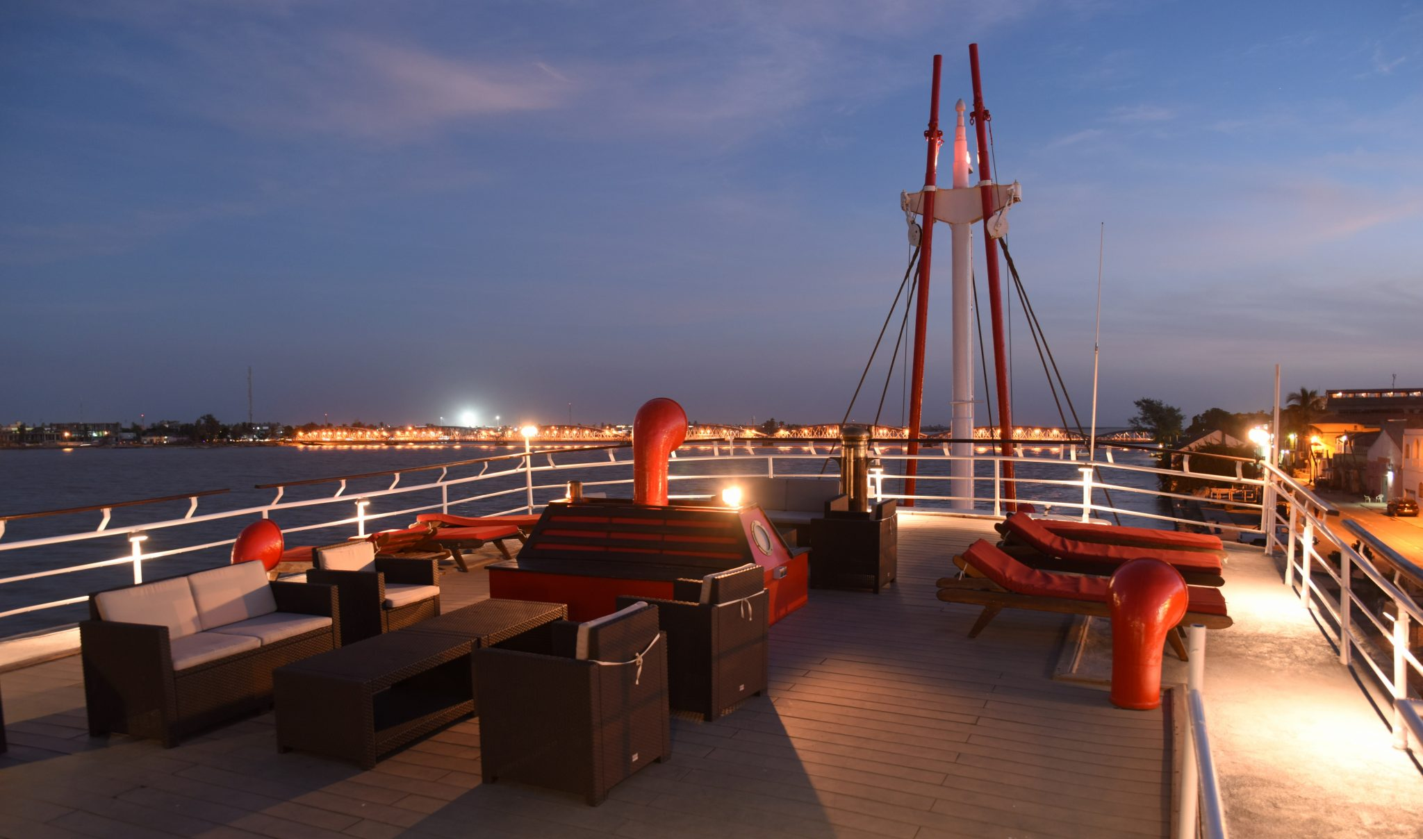 Outdoor Bar, Roof Top, The White Boat Called Bou el Mogdad