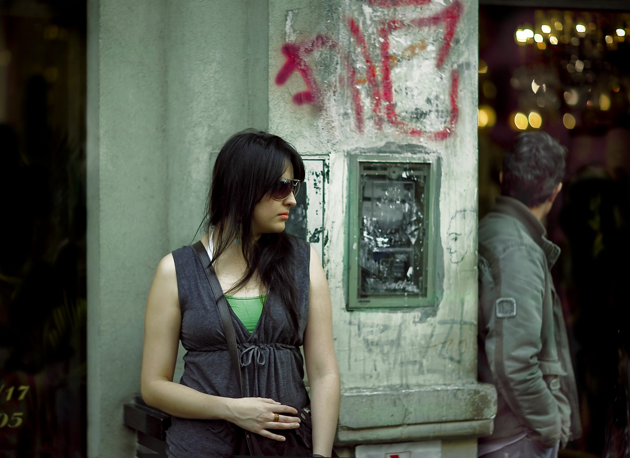 Young Woman on Street in Paris